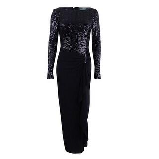 Lauren Ralph Lauren Women's Sequined Jersey Gown