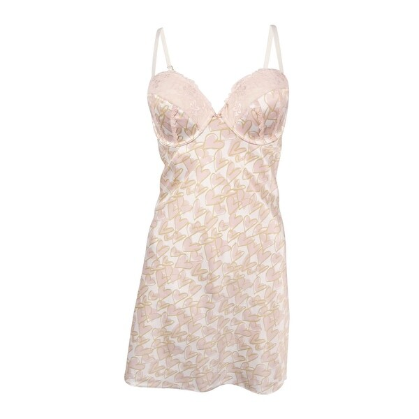 0b89db5ce733 Shop INC International Concepts Women's Lace Trim Satin Chemise (M,  Painterly Heart) - painterly heart - M - Free Shipping On Orders Over $45 -  Overstock - ...