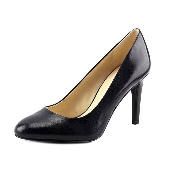 Nine West Handjive Women Round Toe Leather Black Heels