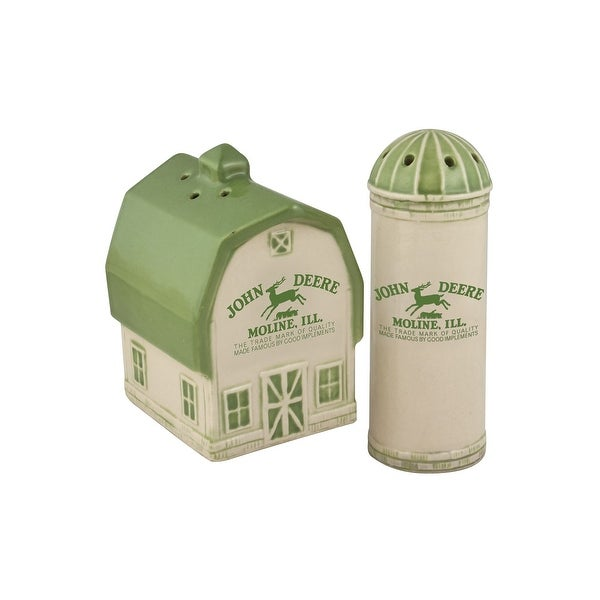 John Deere Barn & Silo Salt & Pepper Shakers