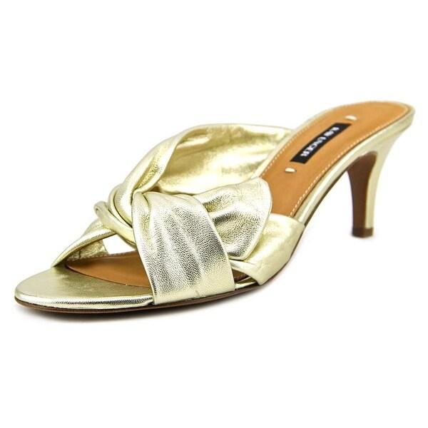 Kay Unger Mattea Open Toe Leather Slides Sandal