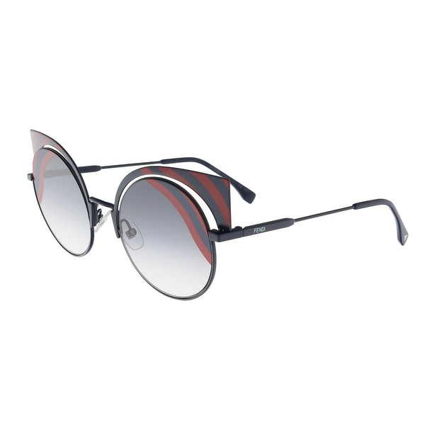 a3dec2bd5133 Fendi FF 0215 S 00M1 Hypnoshine Dark Blue Red Cat Eye Sunglasses