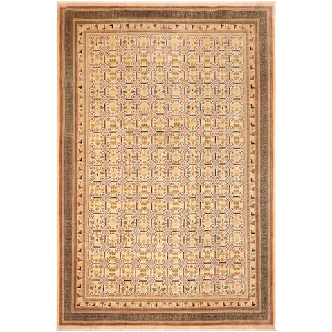 """Shabby Chic Ziegler Jenna Hand Knotted Area Rug -9'10"""" x 14'0"""" - 9 ft. 10 in. X 14 ft. 0 in."""