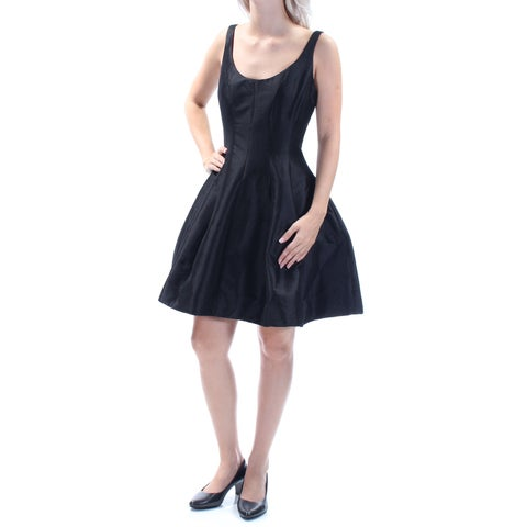 Womens Black Sleeveless Above The Knee A-Line Prom Dress Size: 6
