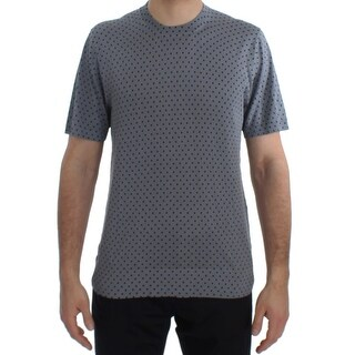 Dolce & Gabbana Dolce & Gabbana Blue Polka Dotted Silk Pullover T-shirt - it54-xl