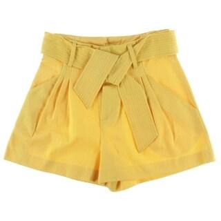 Catherine Malandrino Womens Twill Pleated Casual Shorts - 4