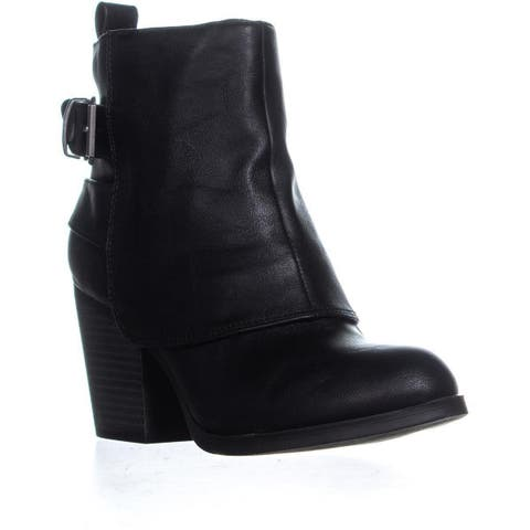 AR35 Lilah High Ankle Block Heel Boots, Black