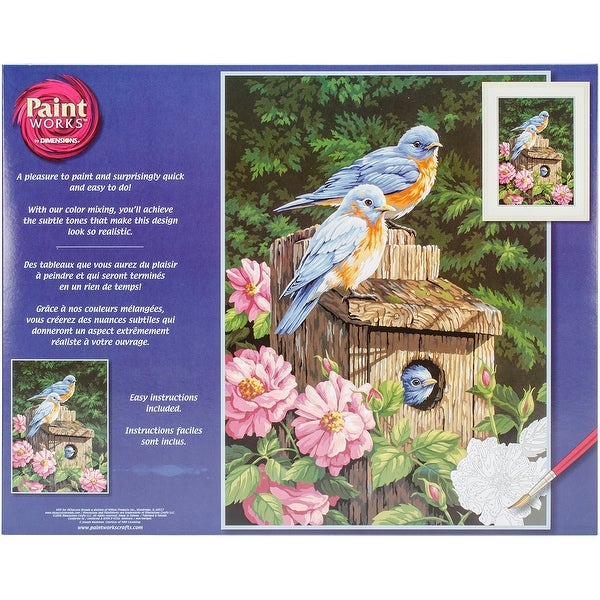 "Paint Works Paint By Number Kit 14""X20""-Garden Bluebirds"