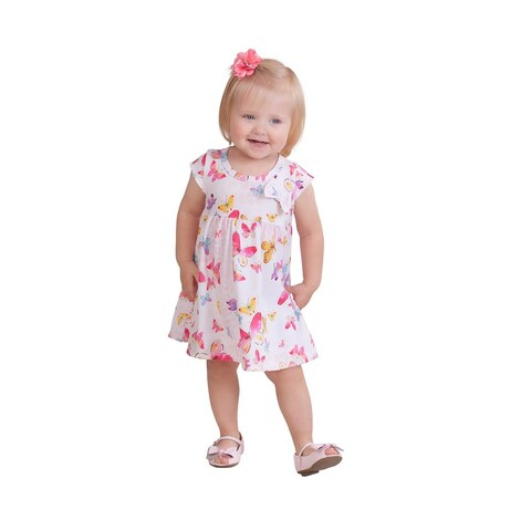 Pulla Bulla Baby Girl Infants Tropical Style Short Dress