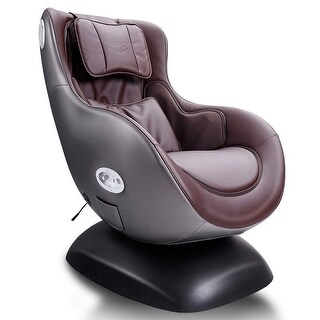Costway Brown Leisure Curve Heated Massage Chair Wireless Bluetooth Speaker &USB Charger - Grey