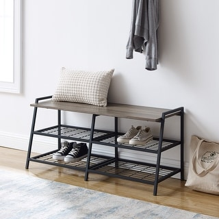 Link to Carbon Loft Lahuri 42-inch Industrial Shelf Entry Bench Similar Items in Living Room Furniture