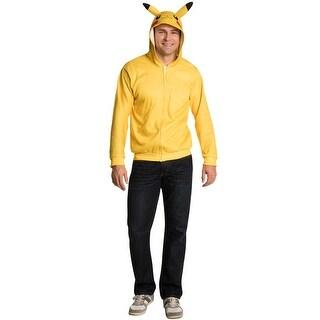 Rubies Pikachu Hoodie Adult Costume - YELLOW