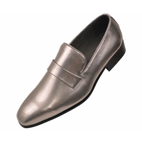 Amali 1082 Silver Tuxedo Slip-on Dress Shoe