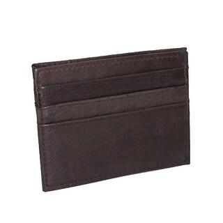 Paul & Taylor Men's Leather Slim Design Card Case Wallet - One Size