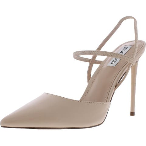 Steve Madden Womens Valentine Pumps Faux Leather Pointed Toe - Nude