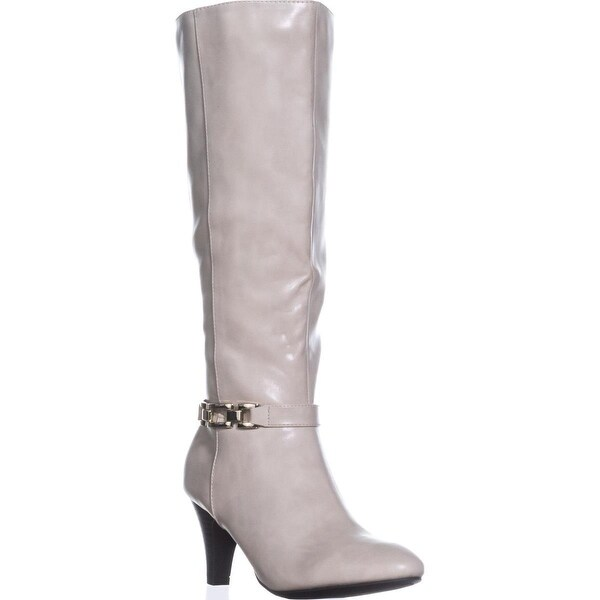KS35 Hulah Knee High Dress Boots, Bone