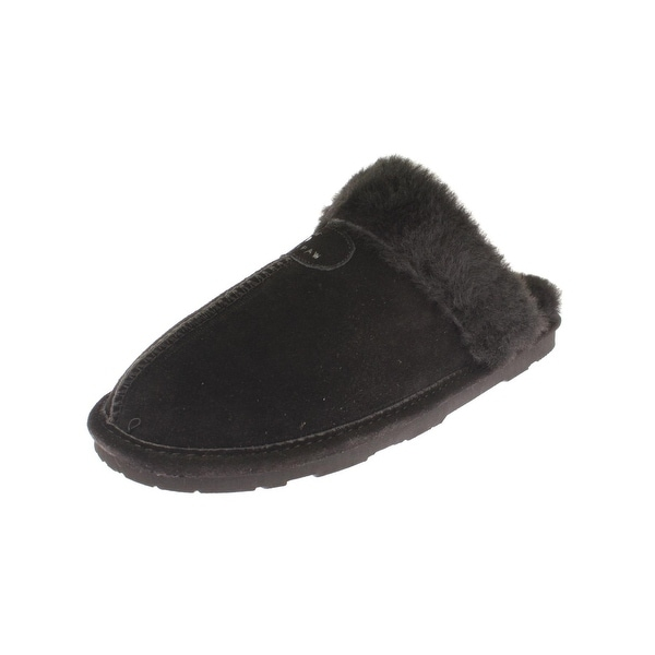 a8e3fe28e74c Shop Bearpaw Womens Loki Scuff Slippers Suede Sheepskin Lined - Free ...