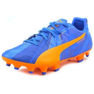 Puma EvoSpeed 4 H2H FG Jr Youth Round Toe Synthetic Orange Cleats