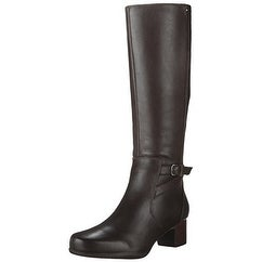 CLARKS Womens Rosalyn Elise Leather Closed Toe Knee High Riding Boots