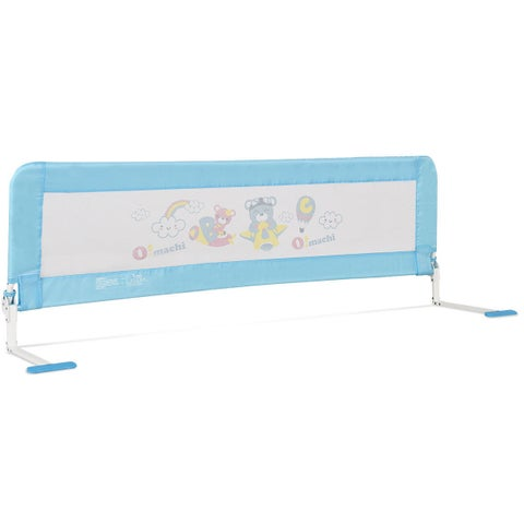 Gymax 69'' Breathable Baby Children Toddlers Bed Rail Guard Safety Swing Down Foamed