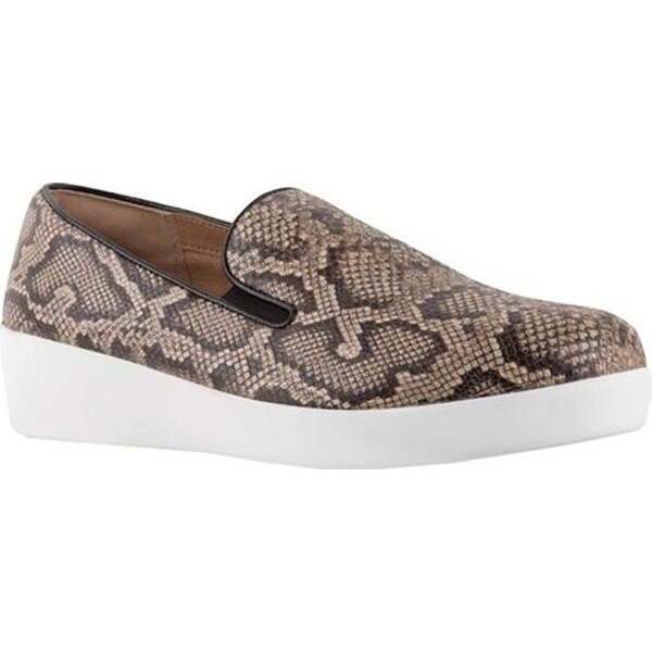 Shop FitFlop Damens's Damens's Damens's Superskate Loafer Taupe Soft Snake Embossed 16e09c