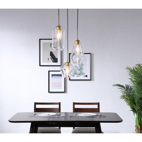 Gerald Glass 3-light Pendant