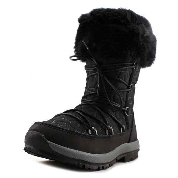 Bearpaw Leslie Women Round Toe Synthetic Black Snow Boot