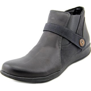 Trotters Trey Women Round Toe Synthetic Black Ankle Boot