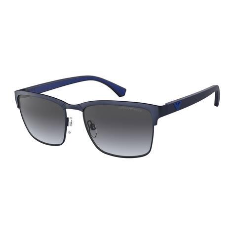 Emporio Armani EA2087 30038G 56 Matte Blue Man Pillow Sunglasses