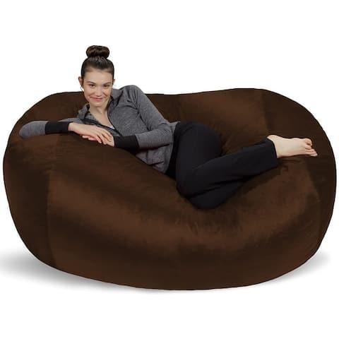 6-foot Bean Bag Lounger Large Memory Foam Bag Chair Lounger