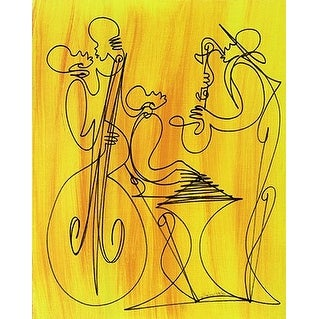 ''Musical Love'' by Sir Shadow African American Art Print (10 x 8 in.)