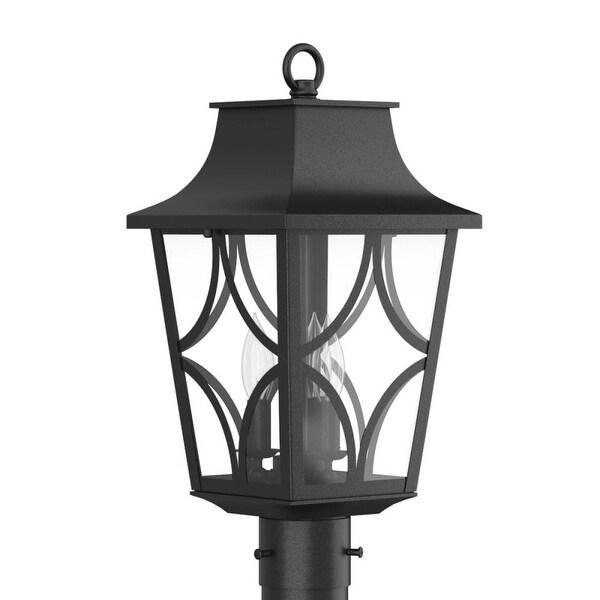 "Park Harbor PHEL1403 Altimeter 20"" Tall 3-Light Outdoor Post Light - Black - n/a"
