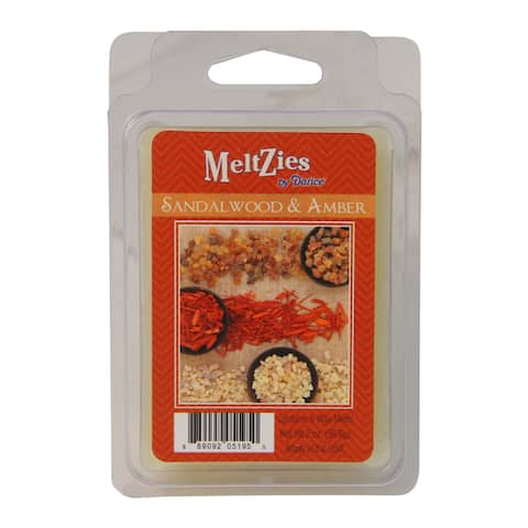 Meltzies Sandalwood and Amber Scented Wax Cube Melts - 2 oz. - N/A