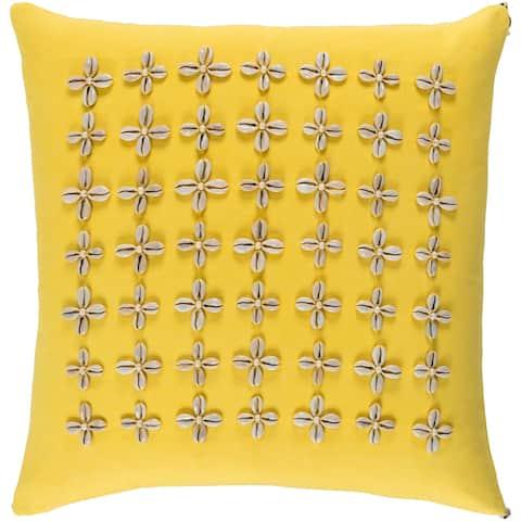 Decorative Rotorua Saffron 18-inch Throw Pillow Cover