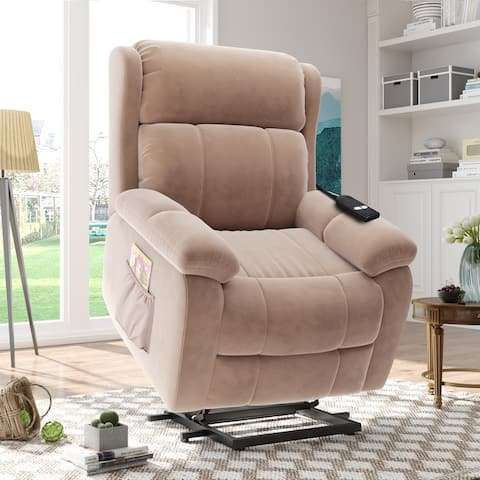 Power Lift Chair Soft Fabric Upholstery Recliner with Remote Control