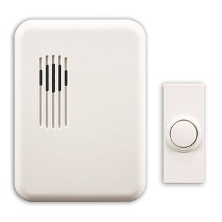 Heath Zenith SL-6151-C Wireless Plug-In Rectangular Doorbell Chime Kit with One