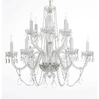 Crystal 12 Light Chandelier Lighting H27 x W32