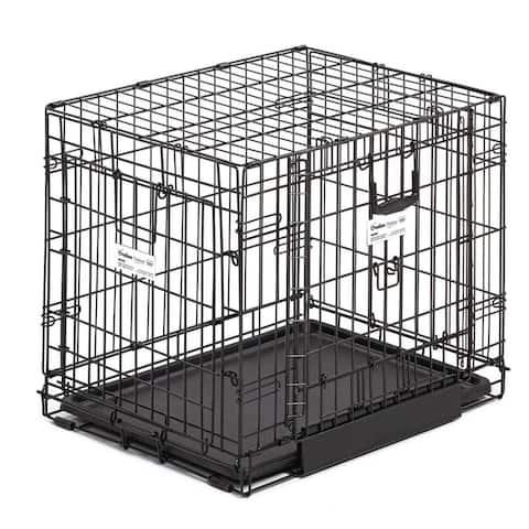 Midwest Ovation Double Door Crate with Up and Away Door Black