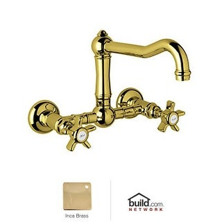 Rohl A1456X-2 Country Kitchen Wall Mounted Bridge Faucet with Five Spoke Handles