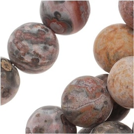 Matte Leopard Jasper 8mm Round Gemstone Beads 15.5 Inch Strand