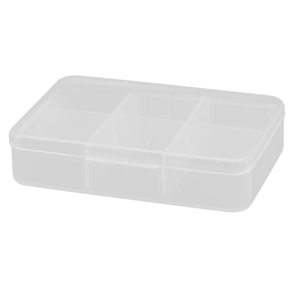 Rectangle Design 6 Slots Drug Tablet Pill Medicine Container Case Box Organizer