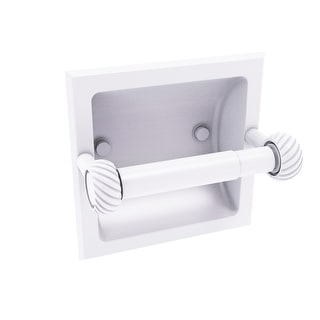 Allied Brass Continental Collection Recessed Toilet Tissue Holder with Twisted Accents