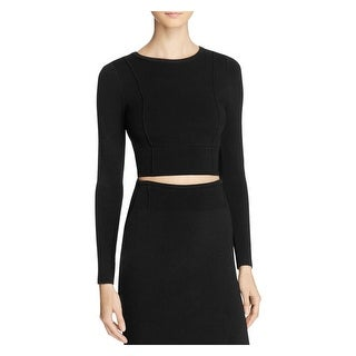 Kendall + Kylie Womens Crop Sweater Crop Cut-out Back