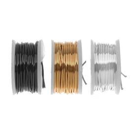 Artistic Wire, 3 Pack Craft Wire Assortment - Silver, Brass, Gun Metal/Hematite 22 GA (15 Yds)