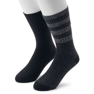 Climatesmart Men's 2-pack Performance Outdoor Wool-Blend Crew Socks - 8-12