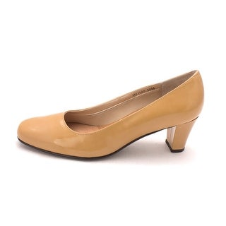 Ros Hommerson Womens Bright/H-41100 Leather Round Toe Classic Pumps - 10