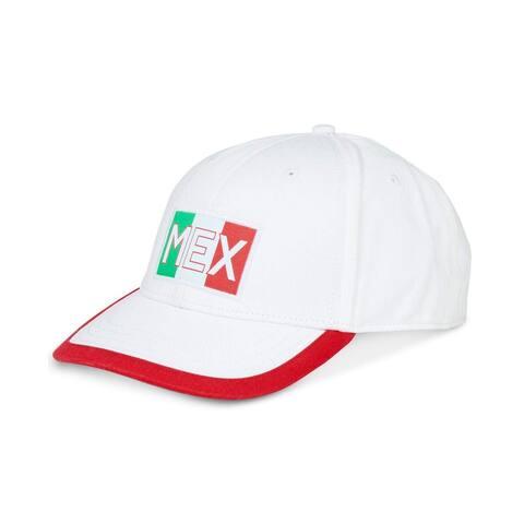 Nautica White Mexico 6-Panel Cotton Size Adjustable Baseball Cap