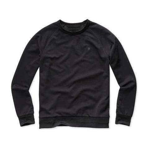 G-Star Raw Mens Zip Side Sweatshirt black XL