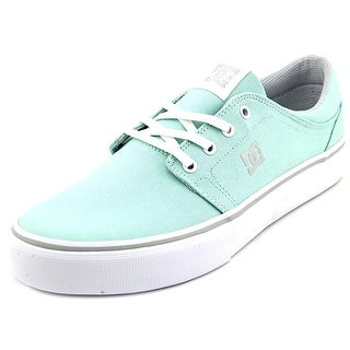 DC Shoes Trase TX Women Round Toe Canvas Blue Skate Shoe