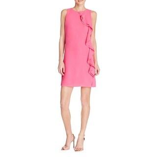 Aqua Womens Casual Dress Sleeveless Ruffled
